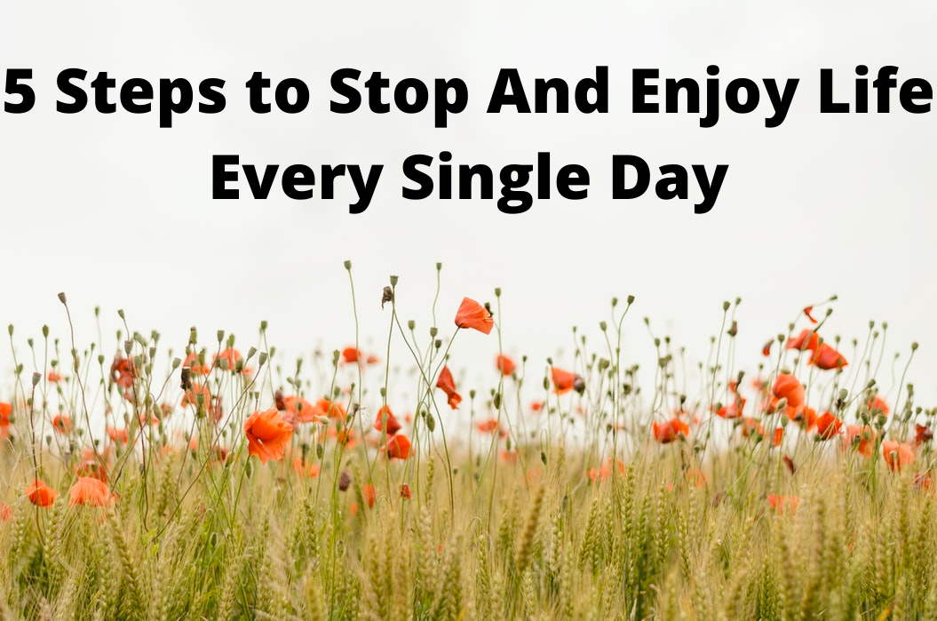 5 Steps to Stop And Enjoy Life Every SingleDay
